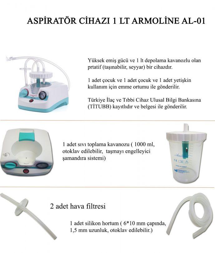 Armoline AL-01 Aspiratör Cihazı 1Lt