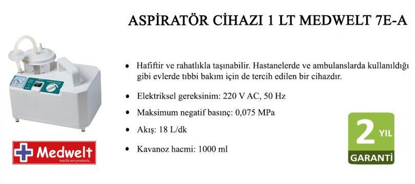 Medwelt 7E-A Aspiratör Cihazı 1LT