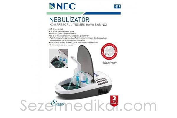 Nec N19 Kompresörlü Nebulizatör Cihazı