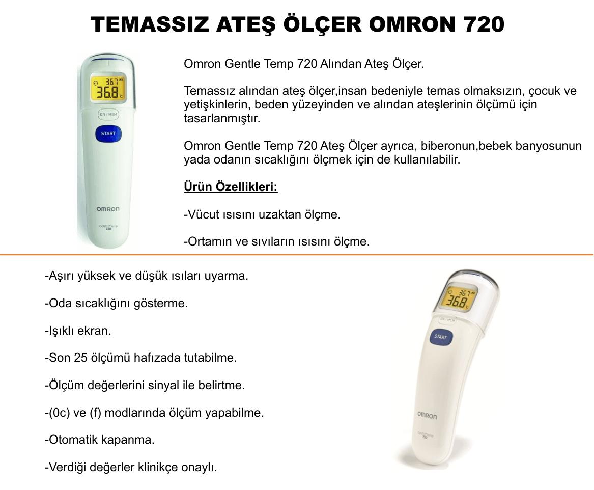 Temassız Ateş Ölçer Omron - 720